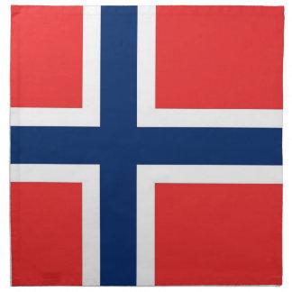 Norgeflagga på den MoJo servetten Näsdukar