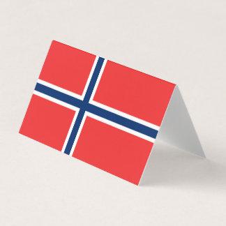 Norgeflagga Placeringskort