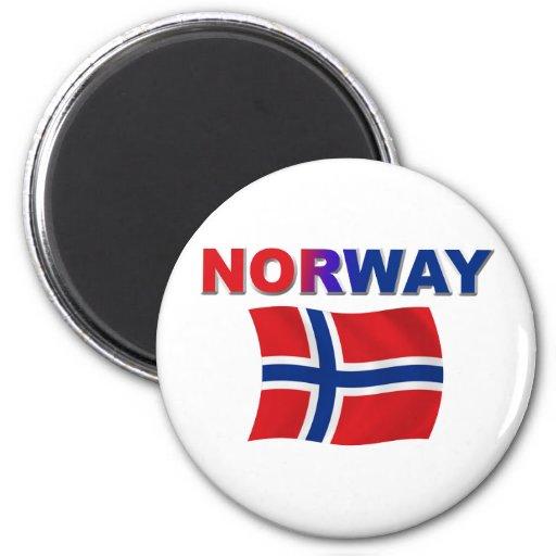 Norgeflagga w/inscription kylskåpmagneter