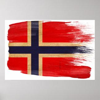 Norgeflaggaaffischer Poster