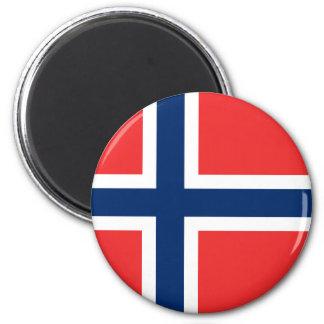 Norgeflaggamagnet Magnet