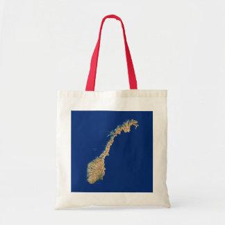 Norgekartan hänger lös budget tygkasse