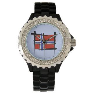 Norgen borstar flagga armbandsur
