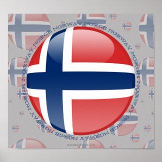 Norgen bubblar flagga posters