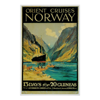 Norgen reser - vintagefraktannonseringen affischer