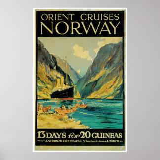 Norgen reser - vintagefraktannonseringen poster