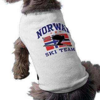 Norgen skidar laget djur tee shirt