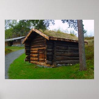 Norgen träkojan i kick betar poster