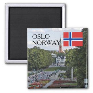 Norgeskandinavien Oslo Vigeland reser souvenir Magnet