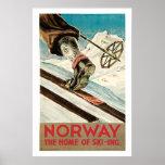 Norgevintage resoraffisch affisch