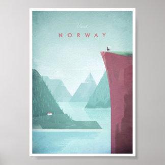 Norgevintage resoraffisch poster