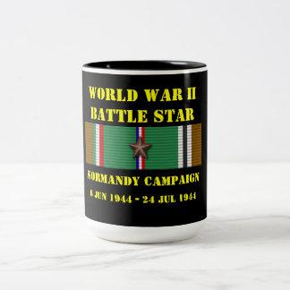 Normandy kampanj Två-Tonad mugg