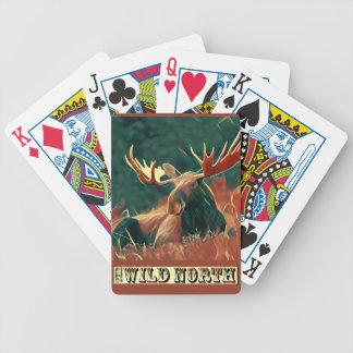 Norr älg för vild spelkort