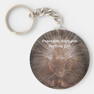 Norr - amerikanPorcupine Keychain Rund Nyckelring