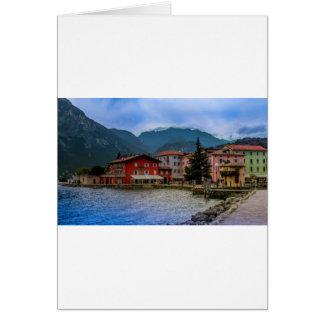 Norr del av Lago Di Garda, Torbole, italien Hälsningskort