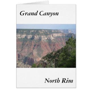 Norr kant för grand Canyon Hälsningskort