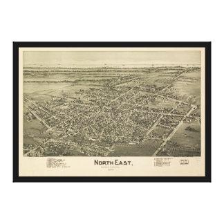 Norr östliga Erie County Pennsylvania (1896) Canvastryck