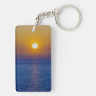 Norr solnedgång .1. för Devon Hartland vulkanisk Rektangulärt Dubbelsidigt Nyckelring I Akryl