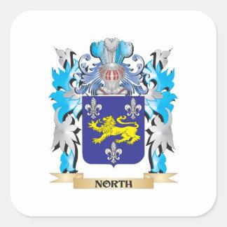Norr vapensköld - familjvapensköld fyrkantigt klistermärke