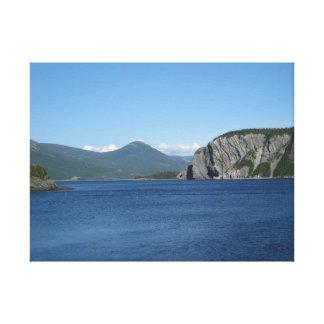 Norris pekar Newfoundland Kanada - vågrät Canvastryck