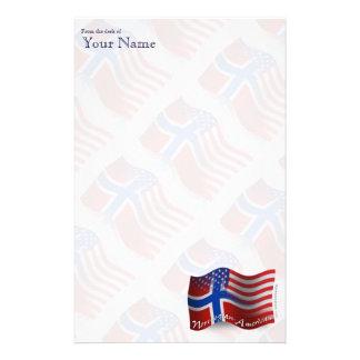 Norrman-Amerikan som vinkar flagga Brevpapper