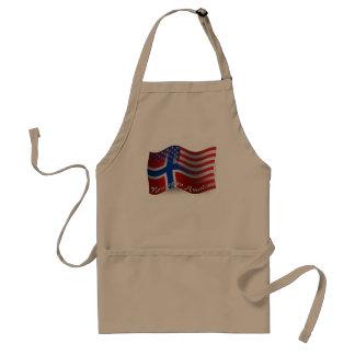 Norrman-Amerikan som vinkar flagga Förkläde
