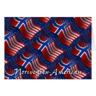 Norrman-Amerikan som vinkar flagga Hälsningskort