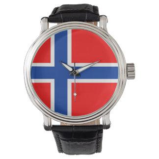norrman för landflagganorge armbandsur