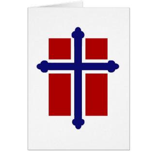 Norrmankorflagga Hälsningskort