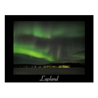 Norrsken i vykortet för himmelsvarttext vykort
