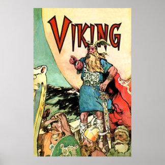 Norse för krigare för Norseman för Viking fraktTho Poster