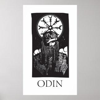 Norseguden Odin och rullar symbol