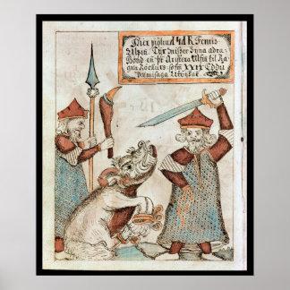 NorsegudTyr att förlora som är hans, räcker till d Print