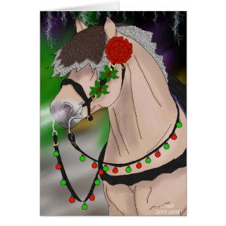 Norsk Fjordhäst för jul Hälsningskort
