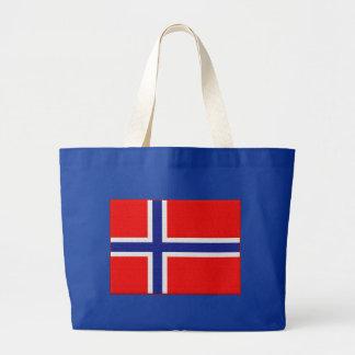 Norsk flagga i rött och blått jumbo tygkasse