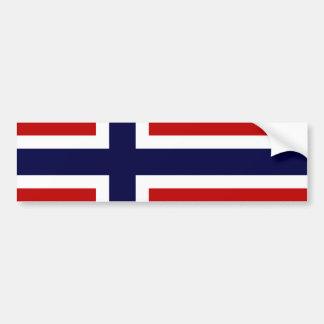 Norsk flagga - Kongeriket Norge - Norsk Flagg Bildekal