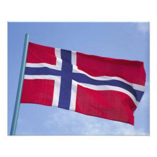 Norsk flagga RF) Fototryck