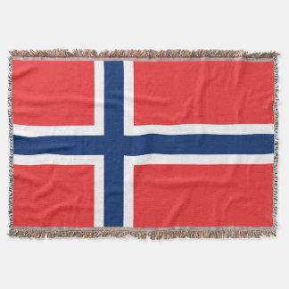 Norsk flagga vävd pride för norge för kastfilt   dekorativ filt