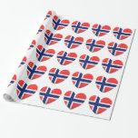 Norsk flaggahjärta av norgen presentpapper