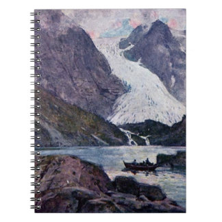 Norsk glaciär anteckningsbok med spiral