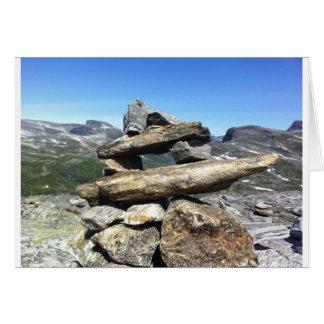 Norsk glaciär hälsningskort
