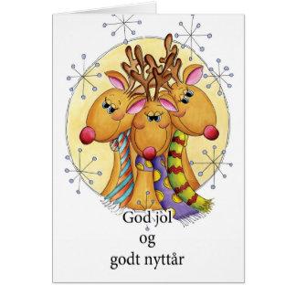 Norsk julkort - ren - G för gudjolog Hälsningskort