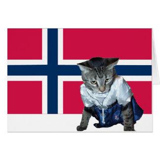 Norsk mall för konstitutiondagkort hälsningskort