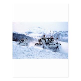 Norsk öde för snö för vinter för Leopardtanker