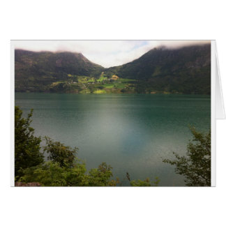 Norsk sjö hälsningskort