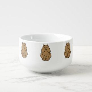 Norsk skogkatttecknad kopp för soppa