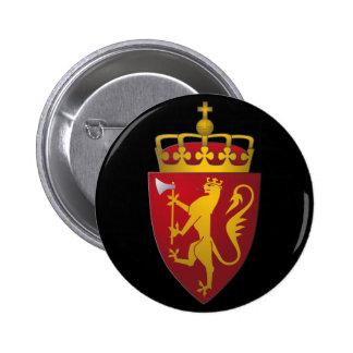 Norsk vapensköld standard knapp rund 5.7 cm