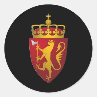 Norsk vapensköldskandinavheraldik runt klistermärke