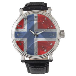 Norsk vinka flagga armbandsur