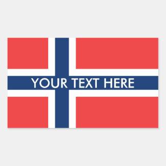 Norska flaggaanpassningsbarklistermärkear rektangulärt klistermärke
